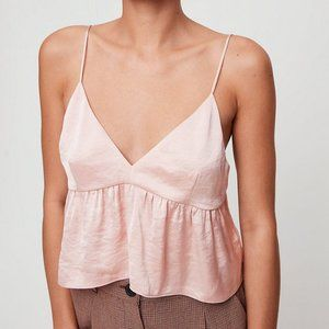 Aritzia Little Moon Cropped, Satin Lover Camisole
